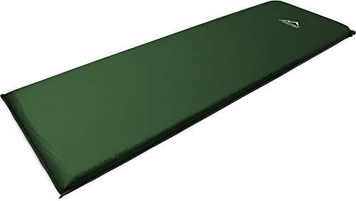 normani Camping Thermo Matte selbstaufblasend - Gute Isolierung und Polsterung Farbe Oliv Größe 190 x 60 x 3 cm