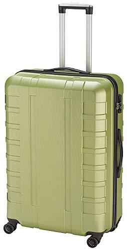 Pure - Hartschalen-Koffer Hugo 69 x 47 x 26 cm - Trolley mit 4 Rollen & TSA-Schloss - Reisekoffer mit 69 Litern Volumen - Grün