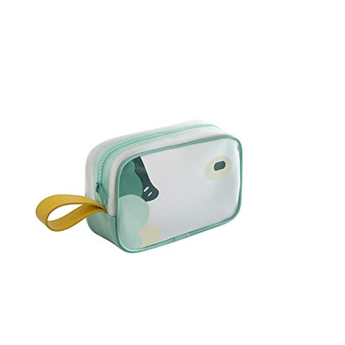 Petay Makeup Bag Travel Clear Cosmetic Case Portable Waterproof Transparent Zipper Toiletry Bag Pouch Storage Organizer for Women 1Pcs(S)