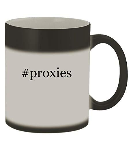 #proxies - 11oz Hashtag Magic Color Changing Mug, Matte Black
