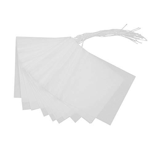 Adecco LLC Tea Filter Bags, Disposable Tea Infuser, Drawstring Empty Tea Bag for Loose Leaf Tea- 100 Count (100)