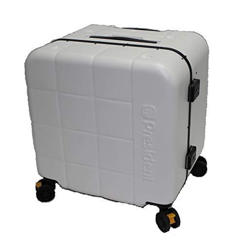 座れるスーツケース President プレジデント スーツケース Mサイズ KUBIKO (ホワイト)