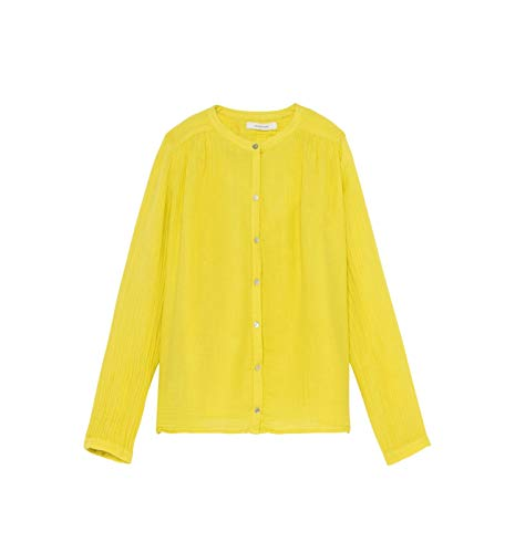 Promod Bluse aus Baumwollkrepp Neongelb 44