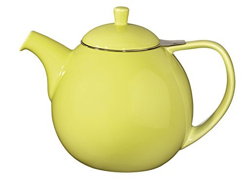 ForLife Teekanne Curve 1,3 l mit Edelstahlsieb, Farbe: Lime
