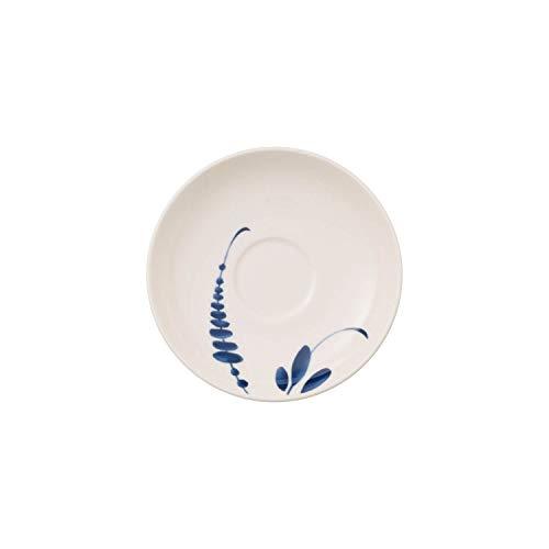 Villeroy & Boch Vieux Luxembourg Brindille Soucoupe pour Tasse à Moka/Expresso, 12 cm, Porcelaine Premium, Blanc/Bleu