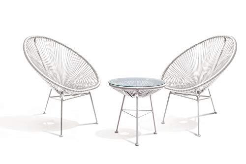 The Curled Angle modern - tuinstoelen - set van 2, retro design stoel, bruin - acapulco - ergonomische stoel wit, grijs - Chill Scandinavische rugleuning - eetkamer stoelen barok stijl - barok sfeer voor de woonkamer wit