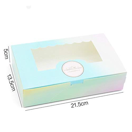 Aomerrt 10 stuks Gift Paper Box met venster Verjaardag Bruiloft Partij Kraft Papieren Doos Verpakking Snoep Cookies Cup Cake Cadeaudozen Karton