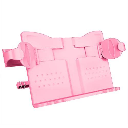 Artispro 多機能ブックスタンド 生徒 書見台 多機能 読書台 目の保護矯正座位姿勢 筆記台 猫型 軽量 タブレット/携帯適用 卓上用 滑り止め 折りたたみ式 メタル製 在宅勤務 ピンク