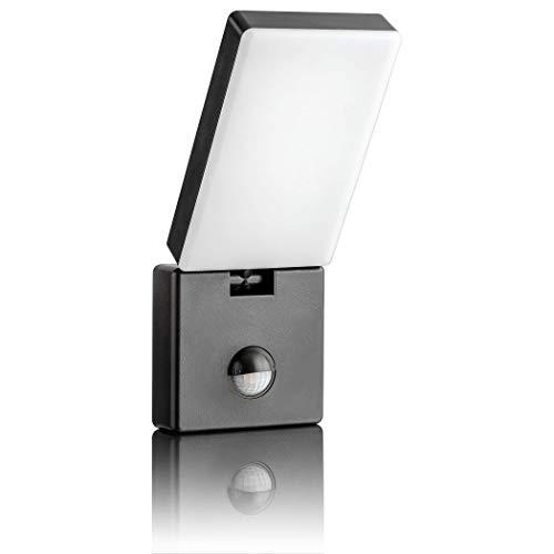 SEBSON LED Aussenleuchte mit Bewegungsmelder, Wandleuchte anthrazit 15W 900lm kaltweiß 5800K schwenkbar IP65, Außenwandleuchte Sensor 9m / 140°