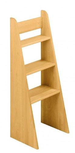 BioKinder 22251 Noah Treppen-Leiter Hochbett aus Massivholz Erle 100 cm
