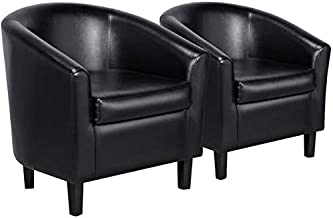 Amazon Com Faux Leather Chairs