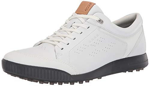 ECCO Men's Street Retro Hydromax Golf Shoe, Bright White, 40 M EU (6-6.5 US)