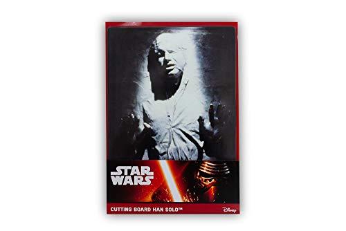 Star Wars Tabla de cortar de cristal: Han en carbonita, gris, 20,7 x 0,5 x 30,1 cm