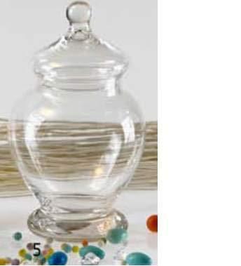 Euroshoppingonline jarrón con Tapa ampolla–tartera para Galletas Fiambrera eléctrica peladillas de Cristal Transparente 26cm de Altura