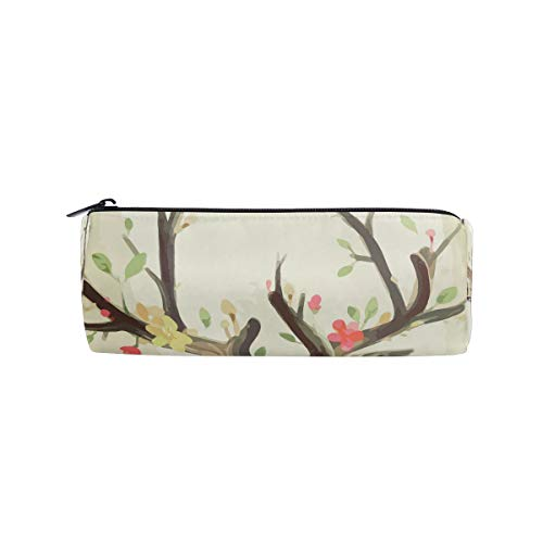 BONIPE Aquarel Schilderij Rendier Bloemen Potlood Case Pouch Tas School briefpapier Pen Box Rits Cosmetische Make-up Tas