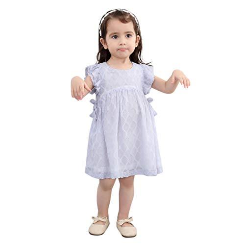 AmyGline AmyGline Mädchen Kleider Rock Kleinkind Kinder Baby Mädchen Kleidung Chiffon Bowknot Party Pageant Prinzessinen Kleid 2-7 Jahre