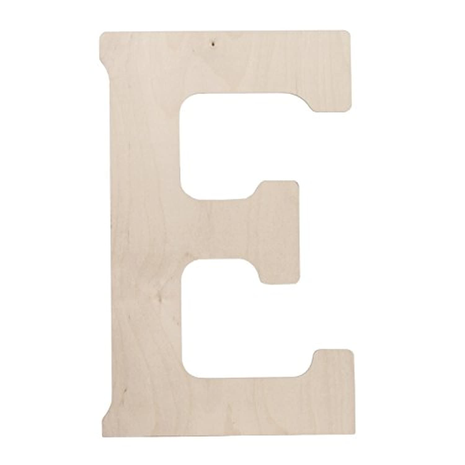 Walnut Hollow Wood Letter, 18 by 0.5-Inch, Monogrammed Letter E