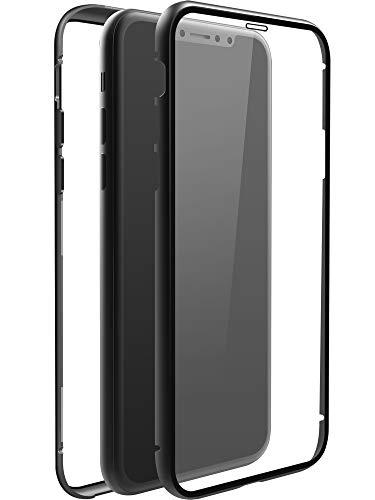 Black Rock - Hülle 360 Grad Glass Hülle passend für Apple iPhone 11 | Durchsichtig Handyhülle, Magnet Verschluss, Cover (Transparent mit schwarzem Rahmen)