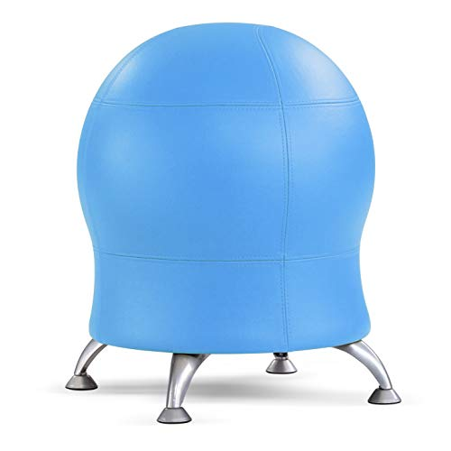 """Safco Products Zenergy Stability Exercise Ball Chair, 23"""" H or 20"""" H, Blue Vinyl"""