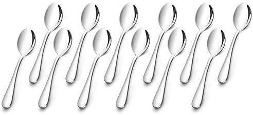 AckMond 12 pezzi (13,5 cm, 5,3 pollici) cucchiaio da caffè, cucchiaini, specchio di lucidatura cucchiaio set