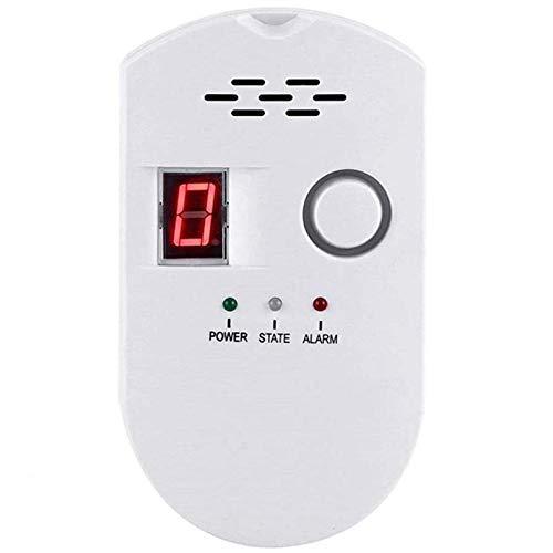 Natural Digital Gas Detector, Home Gas Alarm, Gas Leak Detector,High Sensitivity LPG LNG Coal Natural Gas Leak Detection, Alarm Monitor Sensor Home/Kitchen (1)