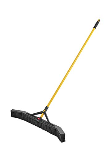 "Rubbermaid Commercial Products Maximizer Push-to-Center Broom with Multi-Purpose Bristle, 36"" Wide, Black (2018728)"