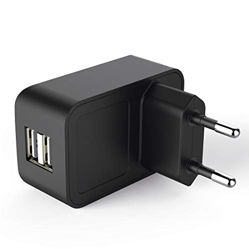 Hama 00181512 Ladegerät für Mobilgeräte Innenraum Schwarz - Ladegeräte für Mobilgeräte (Innenraum, USB, 5 V, Schwarz)