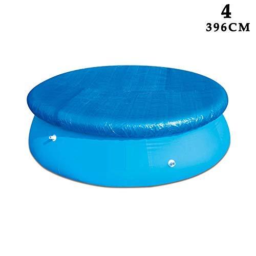 Soul hill Pool-Abdeckung Tuch wasserdicht staubdichte Faltbare UV-beständig Persenning zcaqtajro (Size : 396CM)