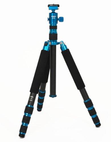 FEISOL CT-3441SB Rapid - Trípode de Viaje (Carbono), Color Azul