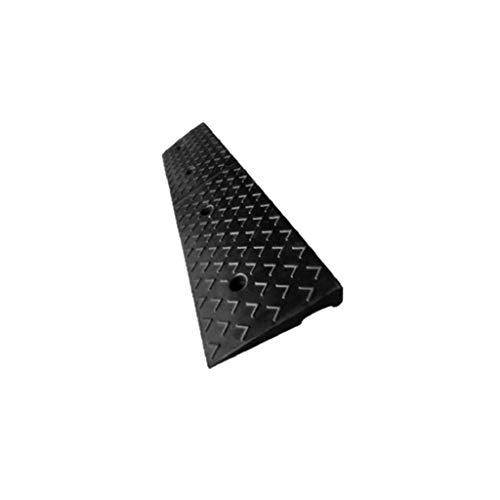 Yta antiglid gummirampor, gata bilateral uppförsbackning matta offentliga platser rullstol uppförsbackning hjälp rampar (färg: Svart, storlek: 100 x 30 x 11 cm)