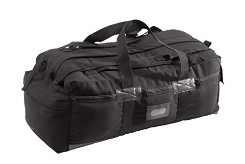 Texsport Tactical Travel Bag with Padded Shoulder Straps to Carry on your Back , Black, 34'' x 15'' x 12''