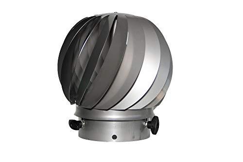 AirMaster® 15 HT für feste Brennstoffe, Windgetriebener Ventilator Ø 155 mm, bis 600 °C, inklusive Einschub für Ø 150 mm