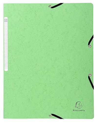 Exacompta 5563E - Carpeta con goma, color verde claro