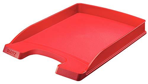 Leitz Vaschetta portacorrispondenza, Formato A4, Slim, Rosso, Gamma Plus, 52370025