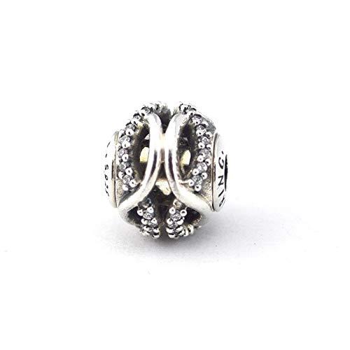 Pandora 925 Sterling Silver DIY Jewelry CharmGenuine Essence Charm Care Perlas de orificios pequeños para joyería Se adapta a pulseras de esencias