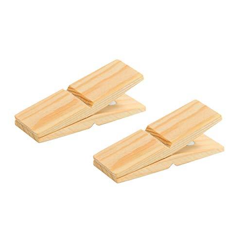 CLIP CLAP クリップ 木製 ホルダー マグネット 大 ウッドクリップ メモスタンド ピンチ (Pine wood 2P)