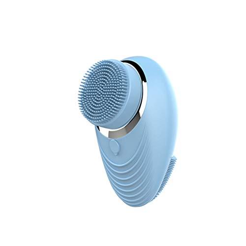 INOOY Instrumento de Limpieza Instrumento eléctrico multifunción para el Lavado de la Cara Limpiador de poro Hermoso Instrumento de Lavado Facial para el hogar,Blue