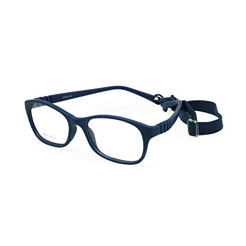 EnzoDate die Kinder der Gläser optischen Frame mit Gurt Größe 48, ein Stück von Kinder Brille mit flexibler Schnur, nicht - Mädchen Jungen Brille