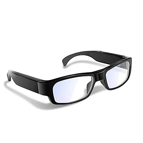 1080P HD - Gafas espía grabadoras de vídeo ocultas, soporte para grabación de audio, fotografía y tarjeta de memoria de 16 GB integrada