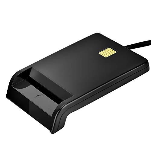 USB Kartenleser, 4 in1 USB Chipkartenleser für SIM/ATM/IC/ID, für Online Einkaufen Mit Kreditkarte (schwarz)