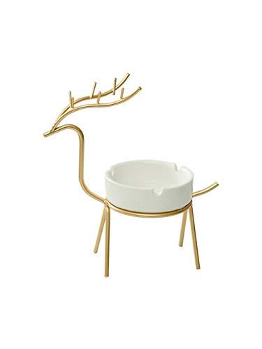 Ceniceros, adornos decorativos ciervos cenicero creativo, cenicero de cerámica salón oficina moderna...