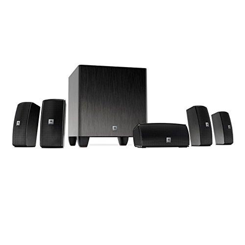 JBL Home Cinema 610 Advanced Sistema de Altavoces de Sonido Envolvente Home Theatre 5.1 Canales de fácil instalación, Incluye 5 Altavoces satélite y 1 Subwoofer Amplificado de 60 W, Color Negro