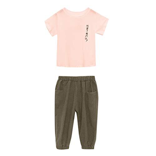 0-10 años de edad, conjunto de trajes para niñas, adolescentes chinos japoneses texto, camiseta de manga...