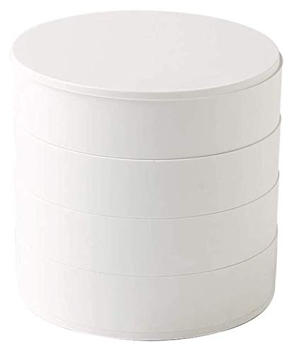 WSXEDC Caja de Joyas Caja de joyería giratoria de Cuatro Niveles Pendientes Collar Caja de Almacenamiento Caja de Acabado Accesorio de Viaje Caja de Almacenamiento Cajas de joyería Decorativa Caja de