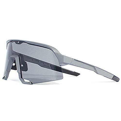 LQIAN Outdoor-Sport polarisierte Brille Mountainbike Bunte Winddichte Sand Sonnenbrille Reitbrille Outdoor Lauf Wanderbrille Sportbrille Unisex