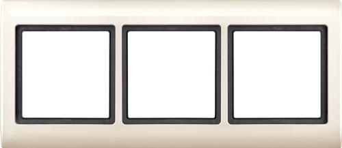 Merten, 1325969, 400.344 AQUADESIGN-Frame, 3 moduli, bianco