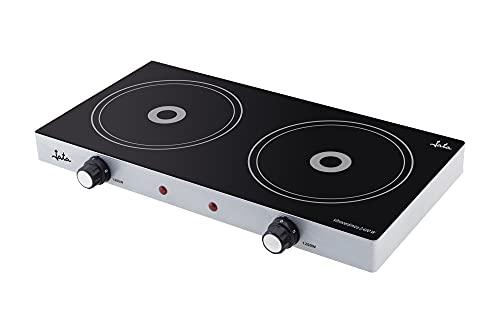 Jata V141 - Cocina eléctrica vitrocerámica de 2 placas de 16,5 cm...