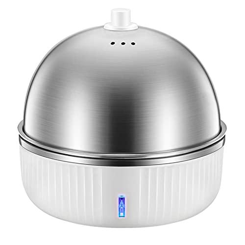 GPWDSN Hervidor de Huevos y Cazador furtivo, con Rejillas de ventilación, Acero Inoxidable eléctrico, Espacio para hasta 7 Huevos, protección para hervir en seco