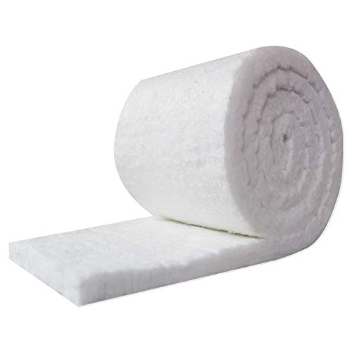 "UniTherm Ceramic Fiber Insulation Blanket Roll, (6# Density, 2300°F)(1""x24""x25') for Kilns, Ovens, Furnaces, Forges, Stoves and More!"