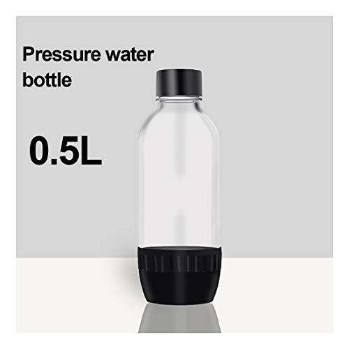 Máquina para soda, Máquina Para Gasificar Bebidas Botella de agua PET de 1 litro - hogar/oficina/fiesta reutilizables y recargables,0.5L